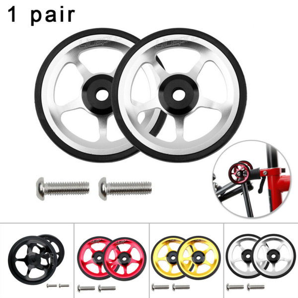 Cart wheel With M6 Bolts Parts For Brompton Folding Bike Aluminum Alloy Durable