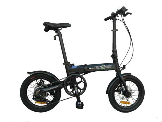 "Ecosmo 16"" Wheel Lightweight Alloy Folding Bicycle Bike 6 SP,Dual Disc-16AF02BLR"