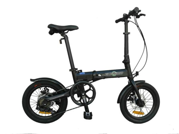 "Ecosmo 16"" Wheel Lightweight Alloy Folding Bicycle Bike 6 SP,Dual Disc-16AF02BLR"
