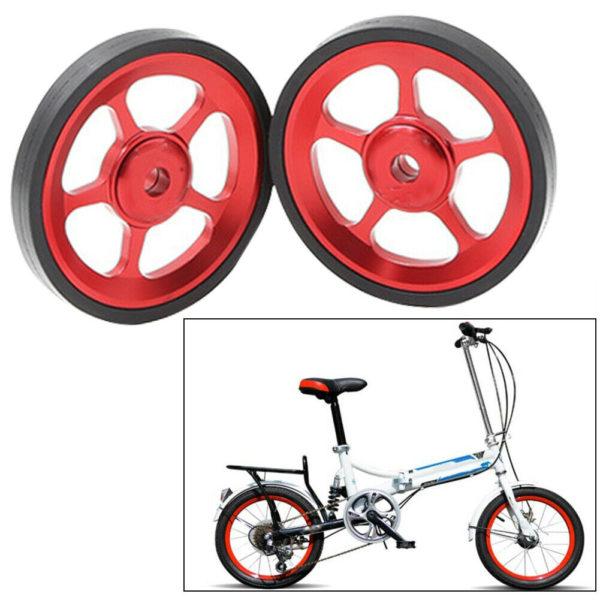 Lightweight Folding Bike Easy Wheels Modified Easywheel for Brompton