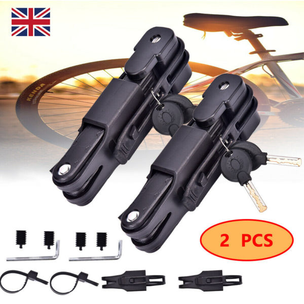 2pcs Folding Bicycle Cable Lock Steel  Bike Security Anti-Theft Combination