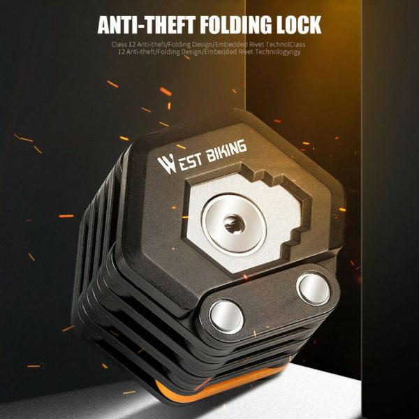Folding Bicycle Lock Leg 3 Keys Strong Anti-theft Security Bicycle safety Lock