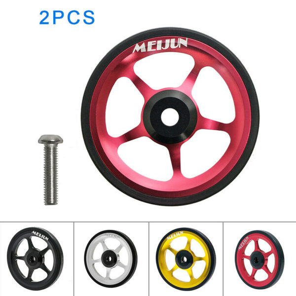 Aluminum Alloy Wheel Easy Wheel Folding Bike Portable Push Wheel Components
