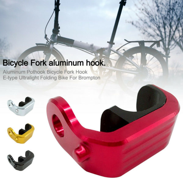 Aluminum Pothook Bicycle Fork Hook E-type Ultralight Folding Bike For Brompton#2