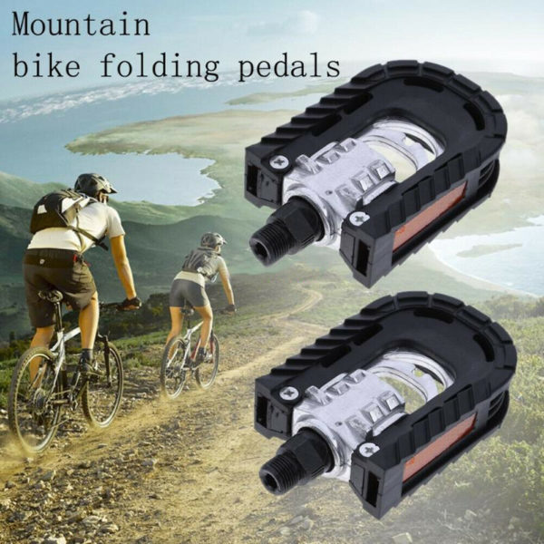 """916"""" Axle Bicycle Pedals Practical Design Folding Bike Pedals With Reflector"""