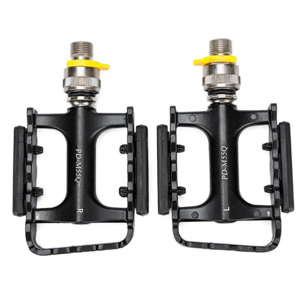 Supply Pedals Bicycle 1 pair For Folding Bike Cycling Black Riding Useful