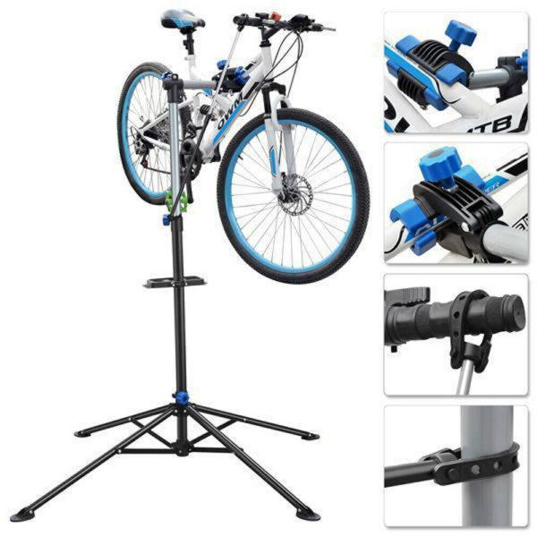 Folding Bike Bicycle Maintenance Station Adjustable Mechanic Repair Stand D8T3