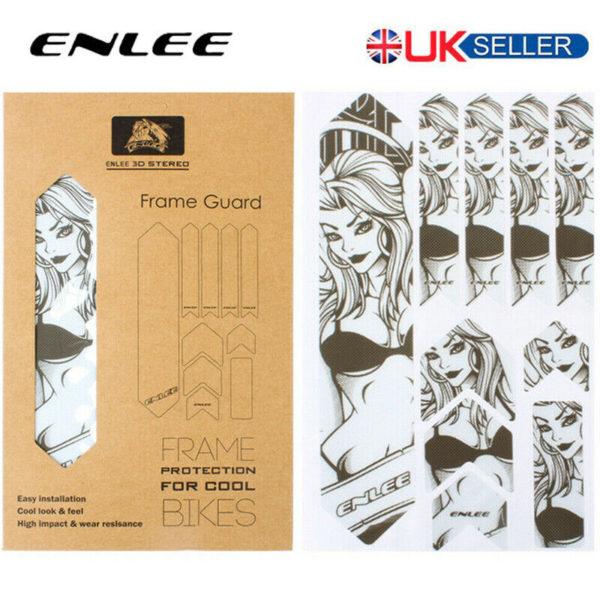 ENLEE Reflective Frames/Forks 3D Protect Stickers MTB/Road/Folding Bike Decals