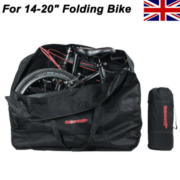 "14-20"" Folding Bike Portable Bicycle Cycling Transport Case Travel Carry Bag NEW"