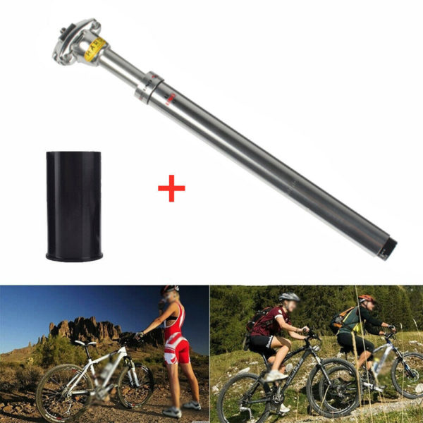 1x UNO Bicycle Seat Tube Mountain Road Folding Bike Seatpost 27.2-33.9MM W/cover