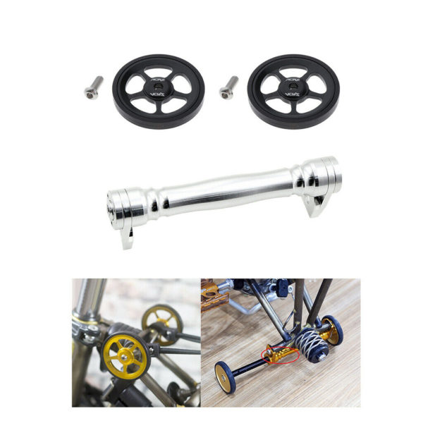 Solid Folding Bike Easy Wheel Modified Easywheel Parking Mount Extend Bar Parts