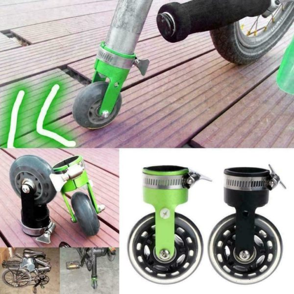 Folding Bicycle Bike Scroll Wheel Roller Assistor Booster Wheels/Training S1K4