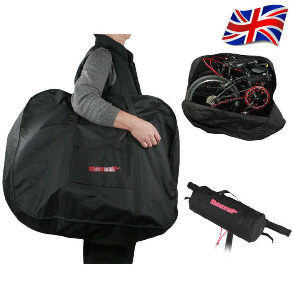 """Folding Bike Bicycle Carrier Bag Carry Transport Travel Bag Pouch Case 14""""-20"""""""