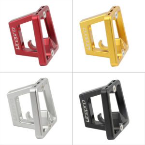 1*Folding Bike Front Carrier Block CNC Bracket Adapter Base Holder For Brompto