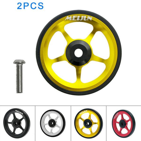 Aluminum Alloy Wheel Easy Wheel Folding Bike Push Wheel Sporting Goods