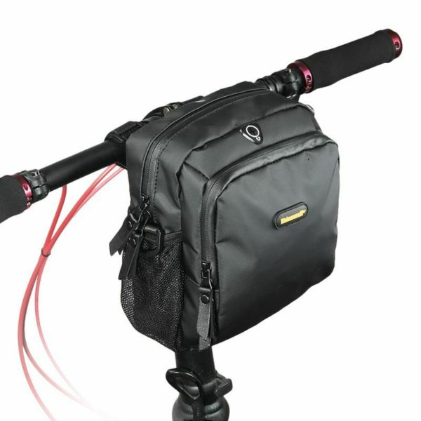 RHINOWALK 4L Bicycle Handlebar Bag Full Waterproof Folding Bike Front Bag E J3U6