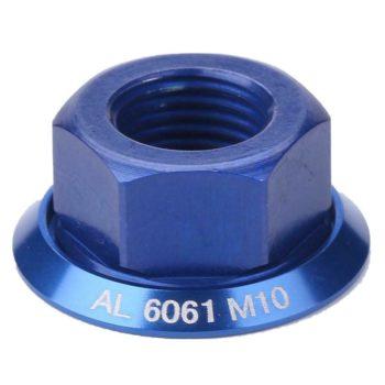 1pc Drum Hub Nuts M10 Fixed Gear MTB Road Folding Bike Screw Bolt (Blue)