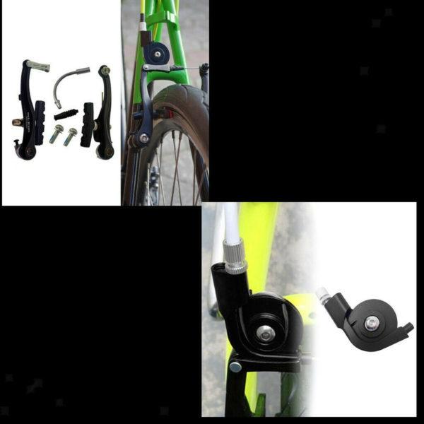 Mountain  V-Brake Set W/ Pads V Brake Adapter for Road Bike Folding Bikes