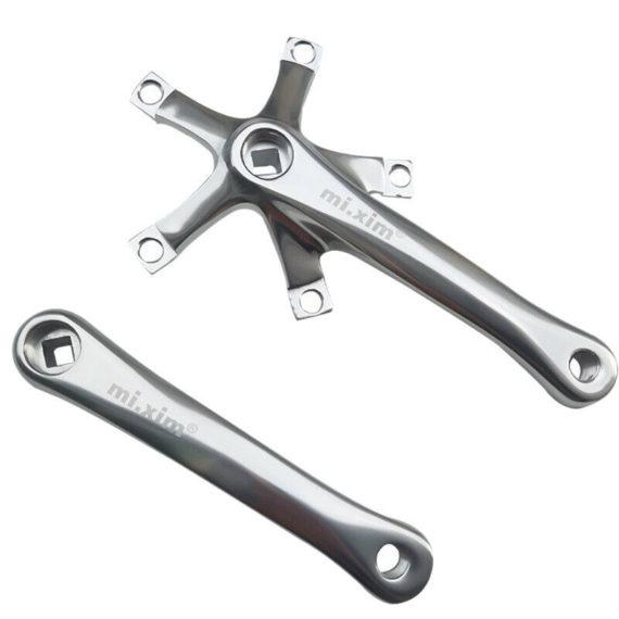 Mi.Xim Folding Bike Crank 165mm 130BCD Bike Crankset Aluminum Square FoldingT8K6