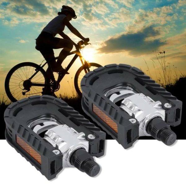 1 Pair Folding Bicycle Road Mountain Bike Pedals Aluminum Alloy Four Bearing YU