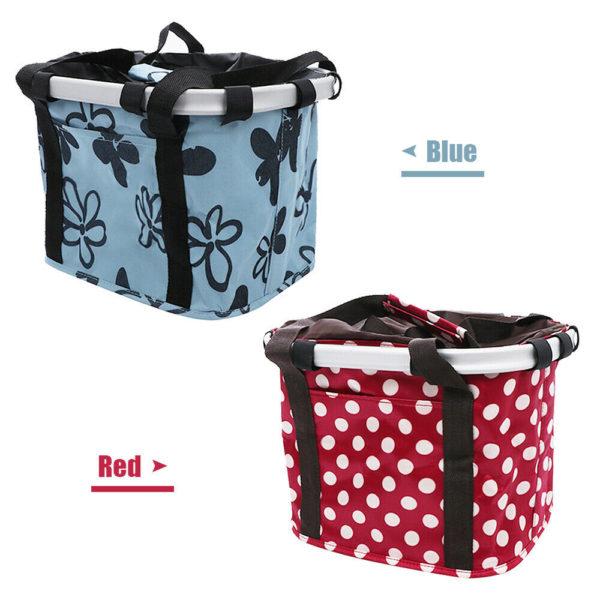 Bicycle Basket Folding Bike Front Handlebar Pet Carrier Bag Shopping Bag UK J4D6