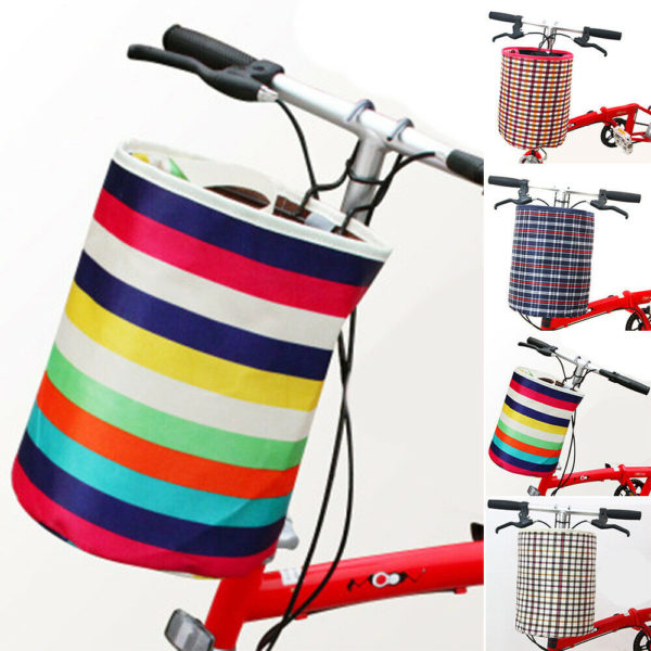 Outdoor Folding Bicycle Bike Basket, Front Handlebar Cycling Pet Bike Basket