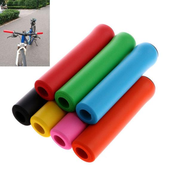 1 Pair MTB Folding Bicycles Non-slip Silicone Handlebar Grip Sponge Foam Cover