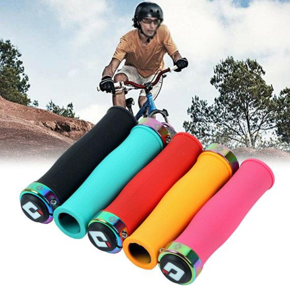 Rubber Grips Lock-On MTB Road ODI Bicycle Handlebar Folding Bike Non-slip
