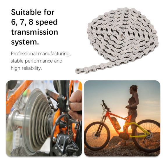 New MTB Road Folding Bike Chain 6/7/8 Speed Chain Combination Set Bicycle Accs