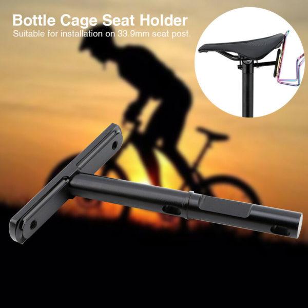 Folding Bike Bottle Cage Seat Holder High Strength Aluminium Alloy Easy Install
