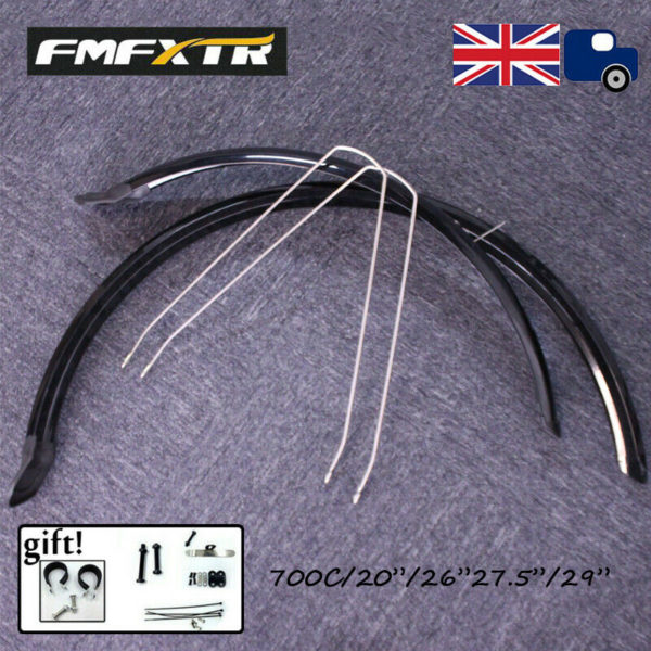 FMFXTR MTB/Road/Folding Bike 1Pair Fender Set Flexible PVC Front&Rear Mudguards