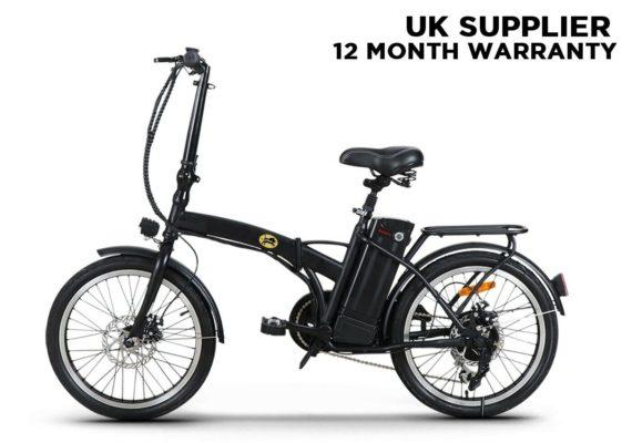 RoadHog EBike Electric Bicycle Folding Bike 250W Professional Commuter - BLACK
