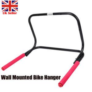 Wall Mounted 2 Bike Storage Rack Folding Bicycle Rack Garage Stand Holder Hanger