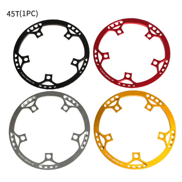 Durable Plate Folding Bike Aluminum Alloy Cycling Chain Wheel Round Tooth Disc