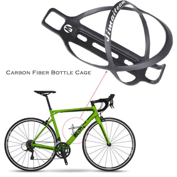 JIMAITEAM Bicycle Water Bottle Holder Cage for Mountain Folding Bike Black
