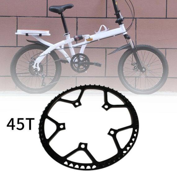 2X(Litepro Folding Bike Crankset Chainwheel 45T Single Speed Crankset for SY8F4)