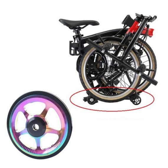 6cm Folding Bike Easy Wheel Easywheel Refit Transport Wheel And Bolt for
