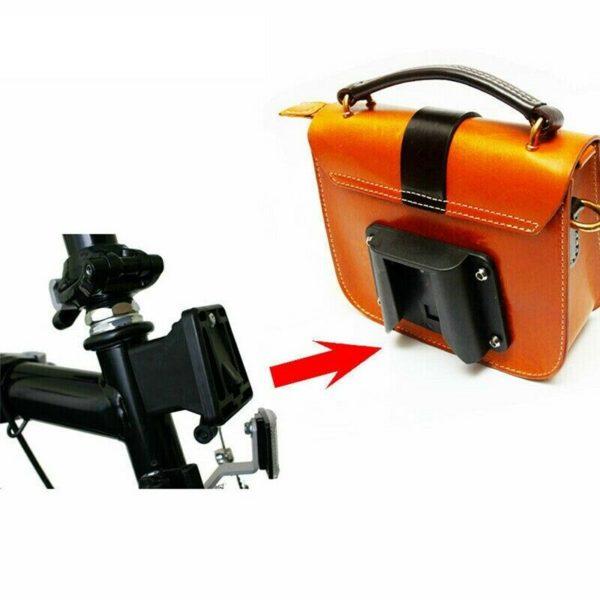 2X(Bike Carrier Block Adapter for Brompton Folding Bike Bag Rack Holder FroY6F6)