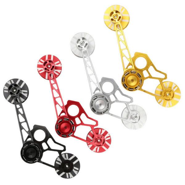 Chain Tensioner Chain Stabilizer Folding Bike 2/6-speed Pulley Wheel New