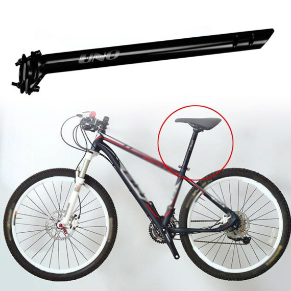 MTB Seatposts Road Folding Bike Bright black Aluminum alloy High Quality