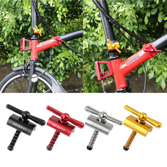 Aluminium Alloy Axle Hinge Clamping Lever Fit Brompton Folding Bike-29.5g Only