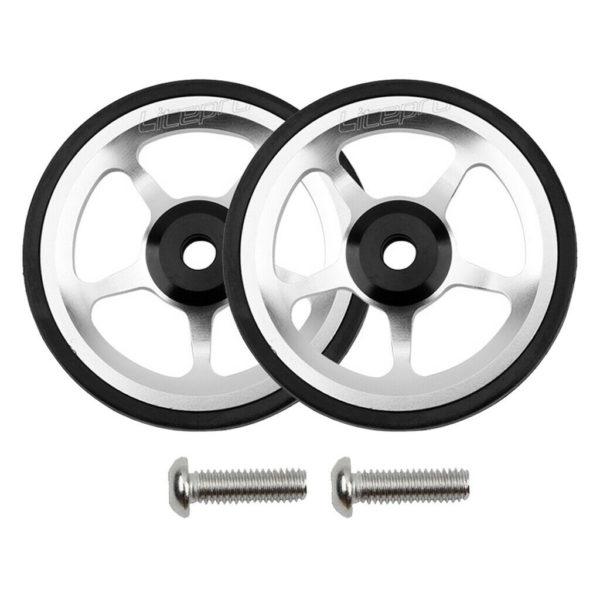 1 Pair Bicycle Easywheel for Brompton Folding Bike Aluminum Alloy Easy Wheels
