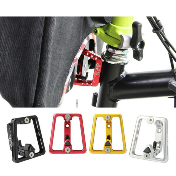 Folding Bicycle Front Carrier Block Bracket Holder Cage for Brompton Bike Rack