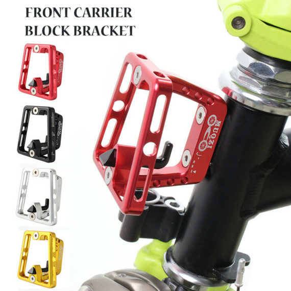 Aluminum alloy folding bicycle front bag mounting seat bag bracket with screws