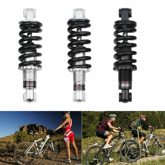 MTB Folding Bike Rear Shock Absorber Adjustable Air Damping Downhill 165MM