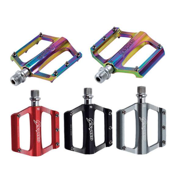 1pcs Universal Plating Colorful Non-slip Pedal For MTB Road Bike Folding Bike Au