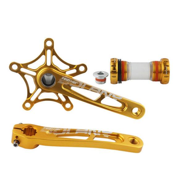Folding Bicycle Crank Set CNC Aluminum Alloy Crank Arm Road Bike Crankset 170mm