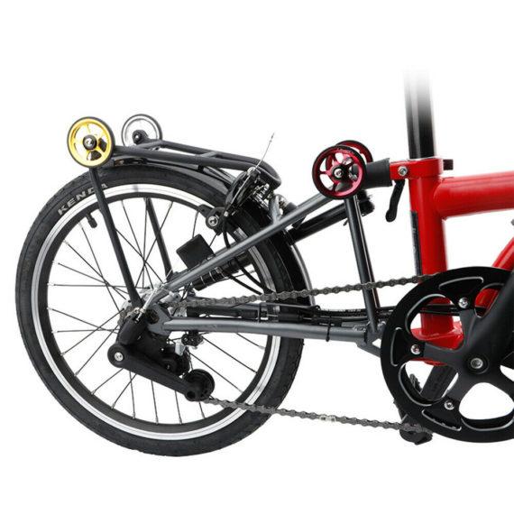 2 Pcs High-Grade Aluminum Easy Wheels With Bolts Kit For Brompton Folding Bike