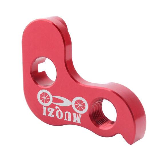 Folding Bike Outside 3 Speed Rear Derailleur Tail Hook Hanger Converter Red
