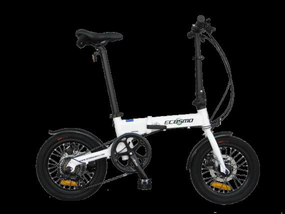 "Ecosmo 16"" Wheel Lightweight Alloy Folding Bicycle Bike 6 SP,Dual Disc -16AF02WR"